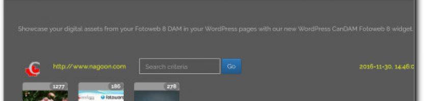 New CanDAM Fotoweb DAM component for WordPress